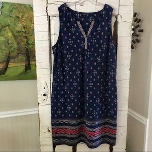 Talbots cotton shift dress 3X